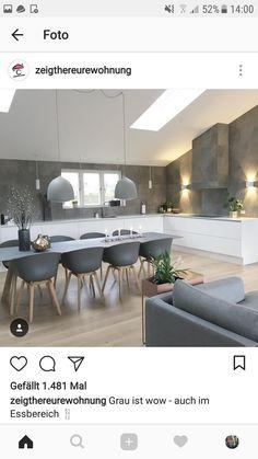 kuche esszimmer wohnzimmer einrichten wohnen zukunftiges haus neues zuhause innenarchitektur