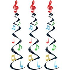 Music Note Whirls (3/pkg) party decorations