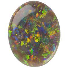 Black opal gemstones cabochon
