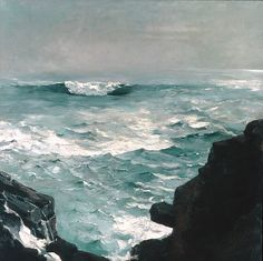 """Cannon Rock"" by Winslow Homer. 1895, oil on canvas. In the collection of The Metropolitan Museum of art, NYC. Gift of George A. Hearn."