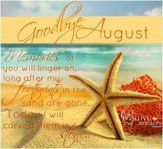 Goodbye August Hello September Sayings Pics