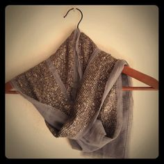 """🎉HP🎉 J crew sequined tulle scarf J crew sequined tulle scarf. 72""""L x 5.5"""" W. Pewter gray. Never worn. J. Crew Accessories Scarves & Wraps"""