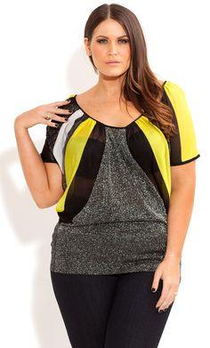 City Chic - COLOUR STRIPE JUMPER - Women's plus size clothing