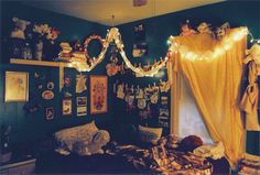 the whimsical bedroom of a dreamer?