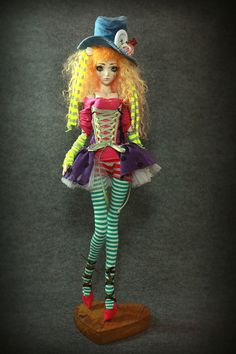 of a kind Porcelain BJD Doll by Aidamaris Roman . Creepy Dolls, Fairy Dolls, Clay Art, Porcelain Dolls Value, Ball Jointed Dolls, Monster High Dolls, Small Art