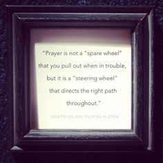 prayer is Wajib, not because u'r in trouble.. U remember Allah. It's determination for the Hereafter