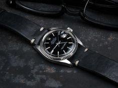 B&S Black Vintage Hand-made Leather Strap 20 mm - Bulang & Sons