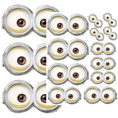 INSTANT DOWNLOAD Minion Eyes - Birthday party favors, hershey kisses, goodie bags,balloons,cupcake toppers,centerpiece, stickers on Etsy, $2.50