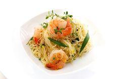 Capellini with Olive Oil Poached Shrimp, Fresh Herbs & Lemon by Nicole Franzen Photo, via Flickr