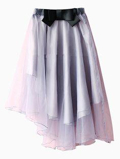 Gray Organza Anomaly Skate Skirt - Fashion Clothing, Latest Street Fashion At Abaday.com