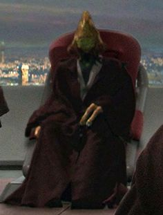 Apr 4 = Coleman Kcaj - Ongree Jedi Master on the Jedi High Council in Revenge of the Sith.