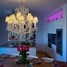 Gorgeous Maria-Theresia Crystal Chandelier with 15 Lampshades in Bright Silver Finish. Fitted with traditional Hand-Cut Crystal Pendeloques and highest quality Glass Filets on the metal frame. A unique piece for many rooms. Lampshades, Beautiful Places, Chandelier, Rooms, Bright, Ceiling Lights, Traditional, Crystals, Metal