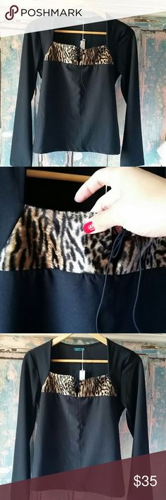 leopard Blouse from brazil gourgeous New super cute for winter fits small and medium Brazilian Amazon Tops Blouses