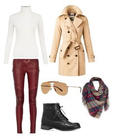 """""""Untitled #46"""" by edlundhallie on Polyvore featuring Balmain, Avenue, Burberry, Venus and Gucci"""