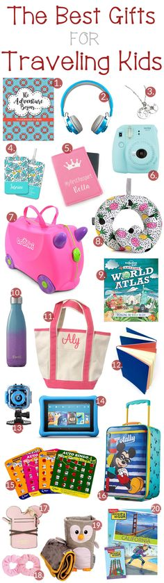The Best Gifts for Traveling Kids - The Shirley Journey Kids And Parenting, Parenting Hacks, Family Road Trips, Packing Tips For Travel, Travelers Notebook, Travel With Kids, Travel Posters, Italy Travel, Gift Guide