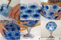 DIY : Plastic Bottle Flower Ball Lampshade