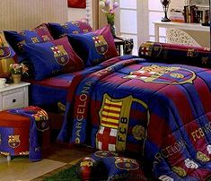 Barcelona Football Club Official Licensed Bed Fitted Sheet Set (Twin, BC001) 3 Pieces (1 Bed Fitted Sheet, 1 Standard Pillow Case and 1 Standard Bolster Case) Tulip http://www.amazon.com/dp/B00R1JOJAA/ref=cm_sw_r_pi_dp_6yhHvb1TAM7QY
