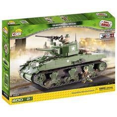 Cobi Small Army WW-Sherman M4A1 Tank Construction Blocks Building Kit, Multicolor , One Size