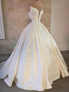 Fancy Wedding Dresses, Princess Wedding Dresses, Bridal Dresses, Wedding Gowns, Boho Wedding, Backless Wedding, Wedding Ideas, Ball Dresses, Ball Gowns