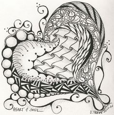 Zentangle - Heart and Soul by weavergirlmn, via Flickr