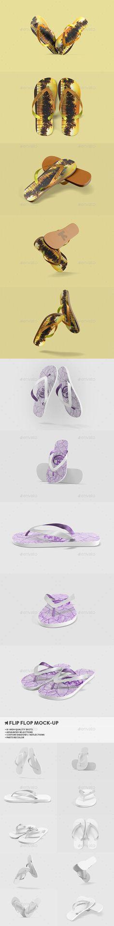 Flip Flops / Sandals Mock-Up - Miscellaneous Apparel - Design #display #mockups