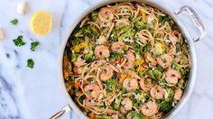 Shrimp with Garlic, White Wine and Linguini found @ bettycrocker.com
