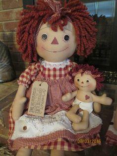 Mamá y el bebé Raggedy Ann Raggedy Más