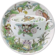 Belleseve   Rakuten Global Market: Noritake bone china My Neighbor Totoro special collection tea with milk porcelain bowl plate (cup & saucer) ひるがお (from July to August)
