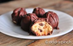 The Perfect Cookie Dough Truffles Recipe from @addapinch | Robyn Stone