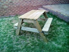 Kids wooden bench suitable for ages Can be used indoors or outdoors and is perfect for every patio of playroom.