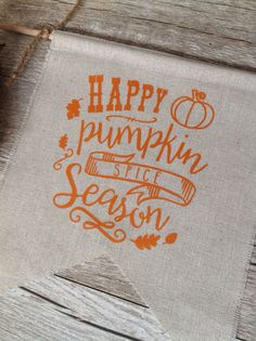 Pumpkin Spice Wall Decor Autumn Sign Harvest by KitchStudios -- so cute for Thanksgiving