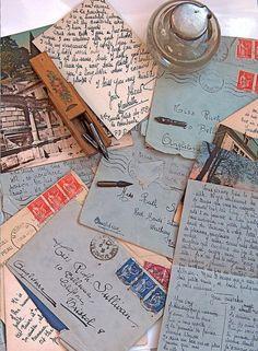 Letters to an English schoolgirl Family history. Letter writing is a lost art, we should restore it! Old Letters, Pen Pal Letters, Paper Letters, Rotulação Vintage, Pocket Letter, Post Bus, Going Postal, Handwritten Letters, Cursive