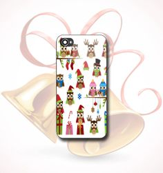 Christmas Owl  Print on hard plastic  iPhone 4/4s 5 by FunCase4You, $13.00