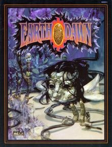 Earthdawn Rulebook | Book cover and interior art for Earthdawn First Edition - ED1, 1st Ed, 1E The Age of Legend, fantasy, Roleplaying Game, Role Playing Game, RPG, FASA Games Inc., FASA Corporation, Ral Partha Europe Ltd. | Create your own roleplaying game books w/ RPG Bard: www.rpgbard.com | Not Trusty Sword art: click artwork for source
