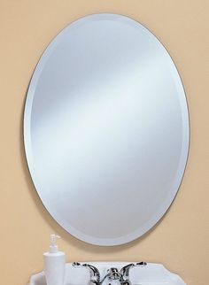 Oval Frame-less mirror features a 1″ beveled edge.Multiple sizes available, please add to cart to see sizes. Kentwood Mirrors Item Numbers 303 – 22 wide x 28 high x 3/8 deep – $…