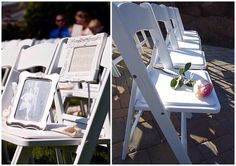 Leave a chair on your wedding day for those who could not be there. Love this idea!