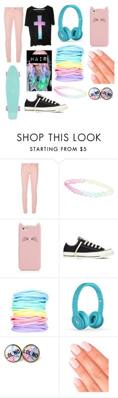 """pastel goth #16"" by ironically-a-strider21 ❤ liked on Polyvore featuring Balenciaga, With Love From CA, Kate Spade, Converse, ASOS and Elegant Touch"