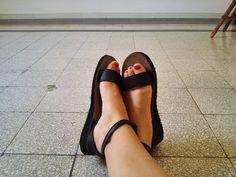 La nostra amica Stella calza Mary Ribbon by Camminaleggero.