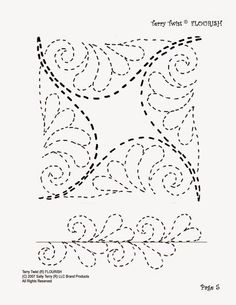 Free Motion Quilting Patterns Templates Border Design Ideas For 2020 Quilting Stitch Patterns, Machine Quilting Patterns, Quilt Stitching, Quilt Patterns Free, Quilting Stencils, Quilting Templates, Quilting Tutorials, Longarm Quilting, Quilting Ideas