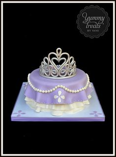Sofia the First Cake! Perfect for Tynlee! Princess Sofia Birthday, Sofia The First Birthday Party, Birthday Parties, Princess Party, 3rd Birthday, Birthday Ideas, Sofia The First Cake, Sofia Cake, Pretty Cakes