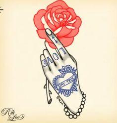 Old school hand tattoo
