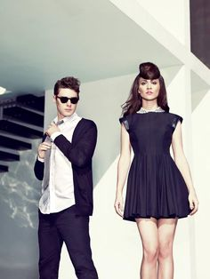 Karmin love her bold style and his classic look.