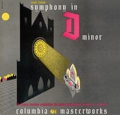 Columbia Records — Symphony in D Minor. Cover by Alex Steinweiss