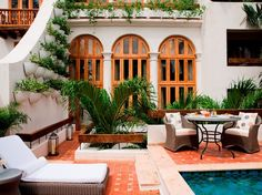 love the contrast of the windows against the white, lovely tile | Photos: Best New Hotels in the World: Hot List 2013 : Condé Nast Traveler