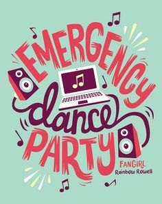 That gave me the idea💡 . Who r up for this Emergency Dance Party! Typography Quotes, Typography Inspiration, Lettering Design, Hand Lettering, Party Logo, Party Quotes, Weird Words, Rainbow Rowell, Life Quotes