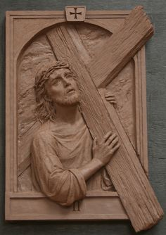 The original set of the Fourteen Stations of the Cross is located in St. Raphael Chuech in Naperville, illinois. The Stations show Christ, Mother Mary, St. Mary Magdalene, and St. Veronica.