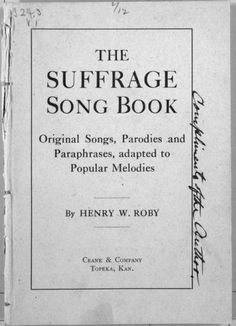 The Suffrage Song Book