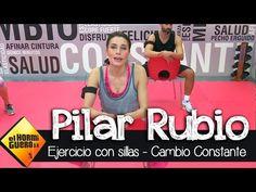 Pilar Rubio I Ejercicios con una sila I Cambio Constante