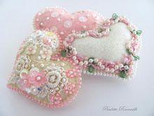 tiny embellished hearts