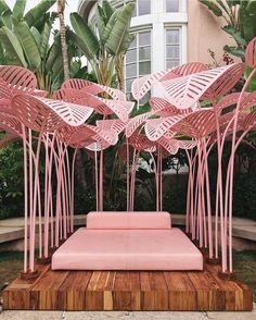 From where I'd rather be today - if you're lucky enough to be in LA you should drop into @bevhillshotel to check out @marc.ange's Le Refuge installation - oh how I wish I could have one of these at home - isn't it amazing! It's only there til 23 August... 📷 @jessicamenda